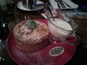 Фирменный песочный пирог со сливами. И со сметанкой!